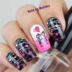 Plate Valentine's Day BP-L004. #nailart #nailsbymalinka #nailaddicts #trna #instanails #nag_repost #notd #nailstagram #nail #nails…