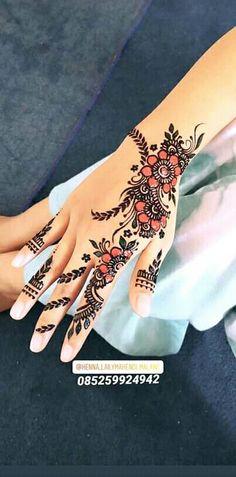 Henna Simple Terbaru : henna, simple, terbaru, Henna, Desain, Henna,