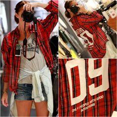 red, skirt, red boyfriend shirt, miau´s life, miauslife