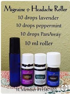 Migraine & Headache Roller Blend - Young Living Essential Oils #YoungLivingEssentials #LavenderEssentialOil