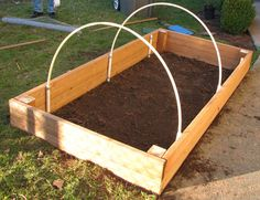 Arches for my peas and tomato plants. http://www.growgardentomatoes.com/raised-bed-gardens.html