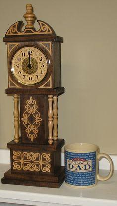 Mini Grandfather Clock - The Dale Maley Family Web Site