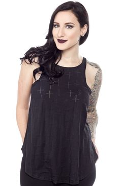 SULLEN CROSS SKULL SCUBA TANK TOP