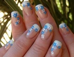 Flower Nail Designs Spring Art Simple