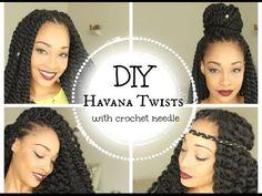 DIY Havana Twists || With Crochet Needle || Janet Collection || Mambo Twists - YouTube