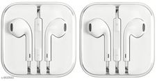 Wired Headphones & Earphones Microbirdss Apple Wired Earphone Pack Of 2 Product Name: Microbirdss Apple Wired Earphone Pack Of 2 Material: Rubber Product Type: Earphone Compatibility: All Mobile Devices Multipack: 2 Color: White Mic: Yes Audio Jack Type: 3.5 mm Cable Length: 130 cm Dust Protected: Yes Service Type: Replacement Sizes:  Free Size Country of Origin: China Sizes Available: Free Size   Catalog Rating: ★3.9 (3322)  Catalog Name: Wired Headphones & Earphones CatalogID_1468011 C97-SC1375 Code: 092-8637663-