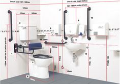 Wheelchair-accessible unisex toilets