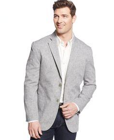 Tasso Elba Island Solid Linen 2-Button Blazer - Blazers & Sport Coats - Men - Macy's