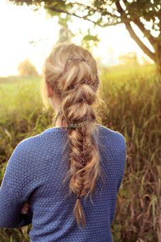 Braided autumn hair, photo and hair @lillsigne
