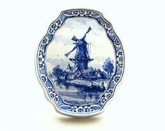 Classic Dutch Blue 'Delft' Ceramics, depicting windmills, and traditional farm imagery.