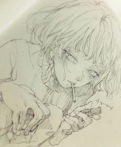 Anime Drawings Sketches, Anime Sketch, Manga Drawing, Manga Art, Art Drawings, Sketch Art, Pretty Art, Cute Art, Pretty Drawings