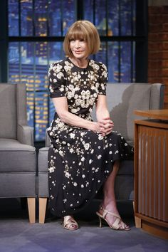 #AnnaWintour in #Givenchy by Riccardo Tisci. Late Night with Seth Meyers.