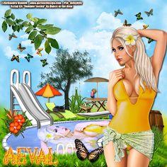"""Aeval's Art: CT Tutorial for PTU Kit """"Summer Loving"""" by Dance In The Rain"""