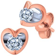 What could be more perfect on Valentine's Day than rose gold, diamond heart earrings?