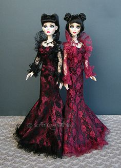 Lace dresses for Evangeline Ghastly