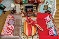 Nice to see colorful creativity after seen many gray, all-the same kind of Belgian interiour magazines  Lily Allen's Cotswolds Home – Vogue