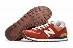 Joes New Balance ML574COR Sneakers Vintage Red Turquoi Suede Mens Shoes