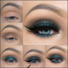 Макияж для голубых глаз....♥ Deniz ♥