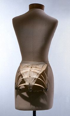 Bustle Date: 1880s Culture: American or European Medium: cotton, metal Dimensions: Length (of cloth): 10 in. (25.4 cm) Credit Line: The Jacqueline Loewe Fowler Costume Collection, Gift of Jacqueline Loewe Fowler, 1988 Accession Number: 1988.356.2 This artwork is not on display