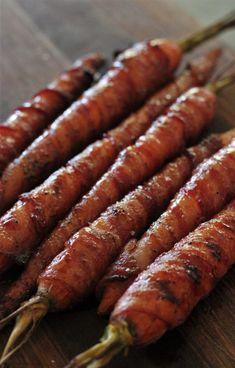 Bacon Wrapped Maple Glazed Carrots
