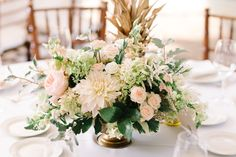 Photography : Michelle Lange | Floral Design : A Garden Party | Venue : The Inn At Fernbrook Farms | Wedding Dress : Essense Of Australia | Grooms Attire : Tommy Hilfiger Read More on SMP: http://www.stylemepretty.com/new-jersey-weddings/chesterfield-township-new-jersey/2016/02/02/garden-party-inspired-wedding-infused-with-pineapples/