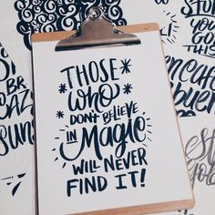 """Lettering """"those who don't believe in magic will never find it"""" - roald dahl Calligraphy Quotes, Calligraphy Letters, Typography Quotes, Typography Letters, Handwritten Typography, Brush Lettering, Lettering Design, Brush Script, Inspiration Typographie"""