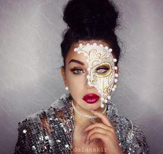 Masquerade mask Halloween makeup costume Daiana Kir daianakir.com