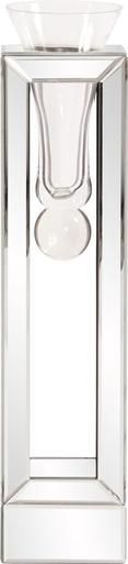 Vase HOWARD ELLIOTT Floral Flared Boxy Base Box Tall Mirror Glass New HE-3207