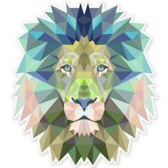 Lion Modern Art Design Vinyl Sticker - SELECT SIZE
