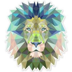 Lion Modern Art Design Vinyl Sticker - SELECT SIZE