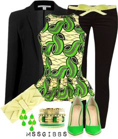 """Lime Shoes"" by mssgibbs ❤ liked on Polyvore"