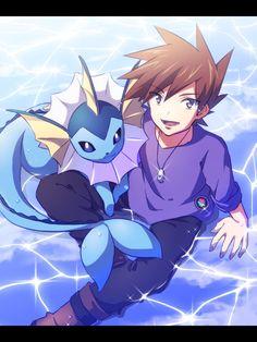 Pokemon Photo, Cute Pokemon, Pokemon Go, Pikachu, Pokemon Stories, Gary Oak, Pokemon Red Blue, Everything Is Blue, Pokemon People