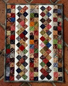 Cascadia - Great scrap quilt - 17 x 19 inches. Simplified version of Cascadia Mystery quilt. Scrappy Quilt Patterns, Jellyroll Quilts, Lap Quilts, Scrappy Quilts, Patchwork Quilting, Small Quilts, Mini Quilts, Borders For Quilts, Quilting Projects