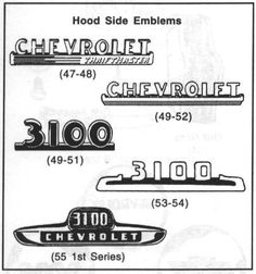information about 1947 to 1955 Chevrolet Trucks and Pickups Chevrolet 3100, Chevrolet Trucks, Gmc Trucks, Cool Trucks, Cool Cars, 1954 Chevy Truck, Vintage Chevy Trucks, Classic Chevy Trucks, Classic Cars