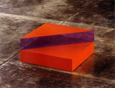 Untitled by Donald Judd light cadmium red oil on...
