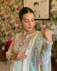 Click on Visit for Video - Full Video on Youtube Iqra Aziz, Ayeza Khan, Pakistani Actress, Kurta Designs, Celebrity Dresses, Pakistani Dresses, Designer Collection, Eid, Actors & Actresses