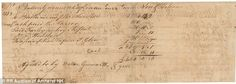 Document showing the signature of Button Gwinnett, one of the rarest signatures of all 56 men who signed the Declaration of Independence