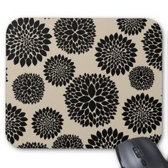 Shop Cream Black Flowers Mouse Pad created by peacefuldreams. Black Flowers, Marketing Materials, Mousepad, Your Favorite, Cream, Image, Color, Design, Creme Caramel