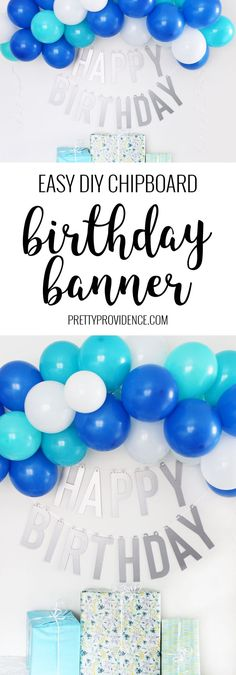 If you want a happy birthday banner that you can use over and over again you will love this happy birthday banner DIY! Made using Cricut chipboard and the knife blade you can use it over and over again for years! #happybirthdaybanner #happybirthday #happybirthdaybannerdiy #happybirthdaybannercricut #birthdaybanner #birthdaybannerdiy via @pinterest.com/prettyprovidnce