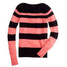 Buttoned boatneck sweater in stripe