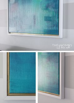 DIY Canvas Frame | Give any canvas a more professional look by adding a custom wooden frame. It's easy and requires just a few tools. See how here!