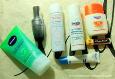 Viva el Glamour!: Mi rutina facial de dia (piel mixta) / Facial routine (combination skin)