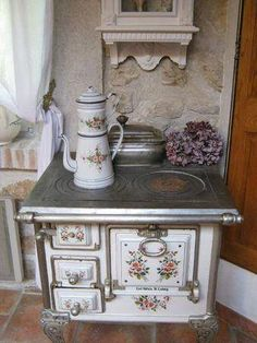 Pot and stove -enameled.