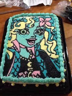 Lagoona Blue Monster High cake Olivia's 6th Birthday cake
