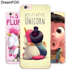 My Fluffy Unicorn & Minions Soft Silicone Case Cover For Apple iPhone