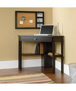 Product Information Item Detail Corner Computer Desk w/ Drawer White Wooden Laptop Dorm Apartment Bedroom Office Create a functional office space in a tight corner with the Simple Living antique computer desk. This classically styled desk ut...