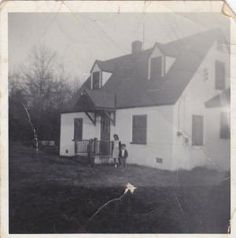 The Brown Home Place – Built in 1952 by A.E.  Brown. Barbara and Marcia enjoy their new home, Remington, Virginia