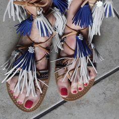 Tie Up Gladiator Leather Sandals, Greek Sandals by artstella on Etsy