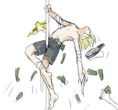 Pole-dancing Oliver. I can't get over this...JAMES IS EVEN THERE.