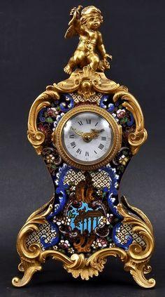 century french ormolu and champleve enamel mantl A Century French Ormolu And Champleve Enamel Mantle Clock.A Century French Ormolu And Champleve Enamel Mantle Clock. Unique Clocks, Cool Clocks, Vintage Clocks, Mantel Clocks, Clock Decor, Antique Watches, Vintage Watches, Objets Antiques, French Clock